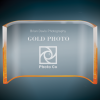 Gold Acrylic Crescent Achievement Awards