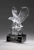 Crystal Eagle on Black Base Employee Awards