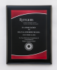 Black Piano Finish Plaque with Red Acrylic Plate Recognition Plaques