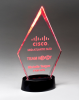 Clear Acrylic Award with LED Base  - 7 Colors Sales Awards