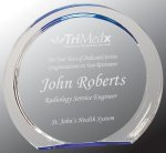 Blue Round Circle Halo Acrylic Award Achievement Awards