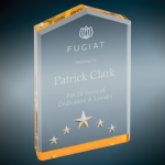 Gold Star Point Acrylic Achievement Awards