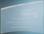 Slanted Glass Crescent Achievement Awards