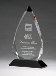 Arrow Series Crystal Award with Black Accent Achievement Awards