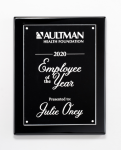 Clear Acrylic Plate on Black High Gloss Plaque Acrylic Plaques