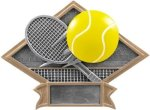 Diamond Plate Resin -Tennis All Trophy Awards