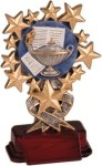 Lamp of Learning - Starburst Resin Trophy All Trophy Awards