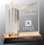 Star Column with Acrylic Plaque Colored Acrylic Awards