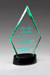 Clear Acrylic Award with LED Base  - 7 Colors Colored Acrylic Awards