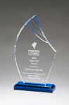 Flame Series Clear Acrylic with Blue Accents Colored Acrylic Awards