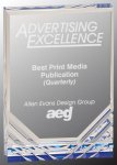 Jewel Mirage Acrylic Award -Blue Corporate Acrylic Awards