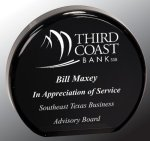 Black Round Circle Acrylic Award Corporate Acrylic Awards