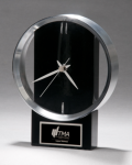 Black and Silver Modern Design Clock Desk Clocks