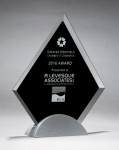 Diamond Series Glass Award with Silver Metal Base Diamond Awards
