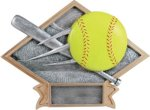 Diamond Plate Resin -Softball Diamond Plate Resin Trophies
