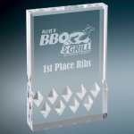 Diamond Mirage Acrylic -Silver Employee Awards