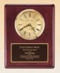 Rosewood Piano Finish Vertical Wall Clock Employee Awards