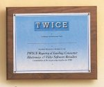 American Walnut Photo / Certificate Plaque Employee Awards