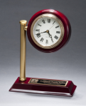 Rail Station Rosewood Piano Finish Photo Desk Clock Employee Awards