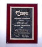 Rosewood High Lustr Plaque with Gray Marble Plate Employee Awards