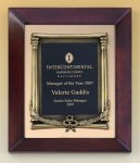 Cherry Finish Wood Frame Plaque with Wreath Employee Awards