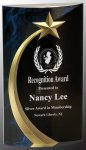 Blue Shooting Star Rounded Acrylic  Employee Awards