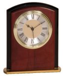 Mahogany Finish Square Arch Clock Award Executive Gift Awards