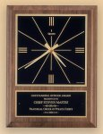 American Walnut Vertical Wall Clock with Square Face. Executive Gift Awards