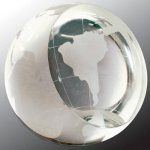 Crystal Globe Paperweight Globe Awards