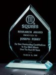 Thick Polished Diamond Acrylic Award Golf Awards