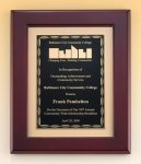 Rosewood Piano Finish Plaque with Brass Plate Golf Awards