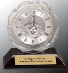 Crystal Clock Award Mantle Clocks