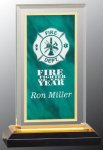 Green & Gold Royal Impress Acrylic Award Marble Acrylic Awards
