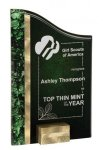 Gold/Green SunRay Award Marble Acrylic Awards