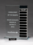 Jade Glass Award with 12 Individual Blocks Monthly Perpetual Plaques