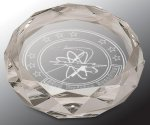 Faceted Round Crystal Paper Weight Paperweight Crystal Awards