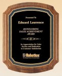 American Walnut Notched Plaque Recognition Plaques