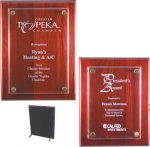 Rosewood Piano Finish Floating Plaque Religious Awards