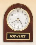 Rosewood Piano Finish Desk Clock Religious Awards