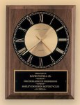 American Walnut Vertical Wall Clock Religious Awards