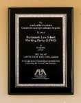 Black Piano Finish Plaque Religious Awards