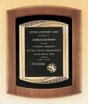 American Walnut Frame Plaque with Antique Bronze Frame Religious Awards