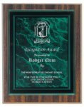 Walnut Finish Plaque Award Sales Awards