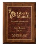Cherry Finish Plaque Award Sales Awards