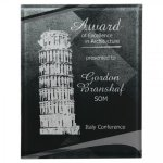Black/Silver Apex Acrylic Plaque Sales Awards