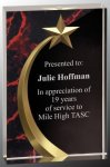 Red Marble Shooting Star Acrylic Sales Awards
