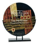 Round Art Glass Award Sales Awards
