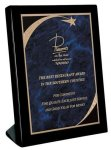 Piano Finish Black Stand Up Plaque  Square Rectangle Awards