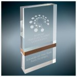 Wood Band Capri Acrylic Square Rectangle Awards