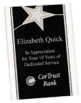 Silver Star Acrylic Stand Up Plaque Star Acrylic Awards